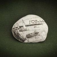 Balaton,-vitorlások---kő-ajándéktárgy