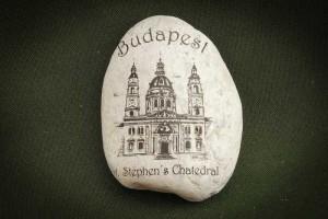Budapest,-Bazilika---kő-ajándéktárgy