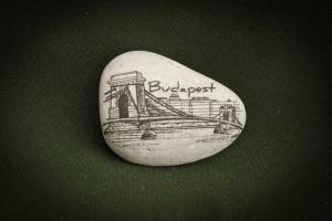 Budapest,-Lánchíd---kő-ajándéktárgy