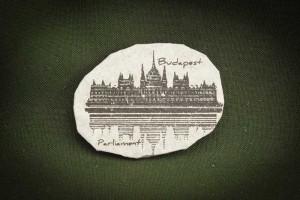 Budapest,-Parliament-retro---kő-hűtőmágnes