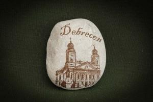 Debrecen---kő-ajándéktárgy