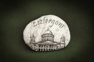 Esztergom---kő-ajándéktárgy