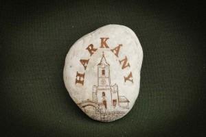 Harkány,-Templom---kő-ajándéktárgy