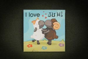 I-love-juh---lapka-hűtőmágnes