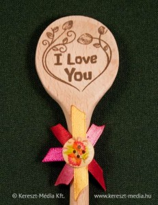Fakanál hűtőmágnes I love you