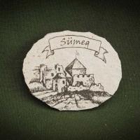 Sümegi-vár---kő-hűtőmágnes