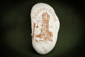 Siófok---kő-ajándéktárgy