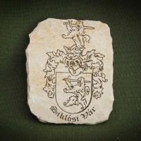 Siklósi-vár-címere---kő-hűtőmágnes