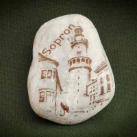 Sopron,-Tűztorony---kő-ajándéktárgy