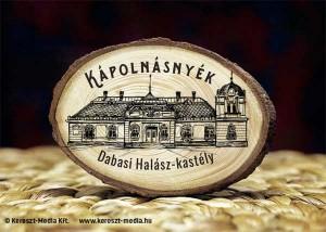Kereszt-Média Kft. - Dabasi Halász kastély-fa hűtőmágnes