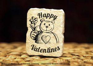 Valentin nap kő hűtőmágnes